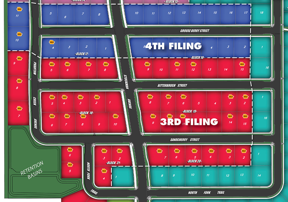 3rd and 4th filing 3 - Available Lots